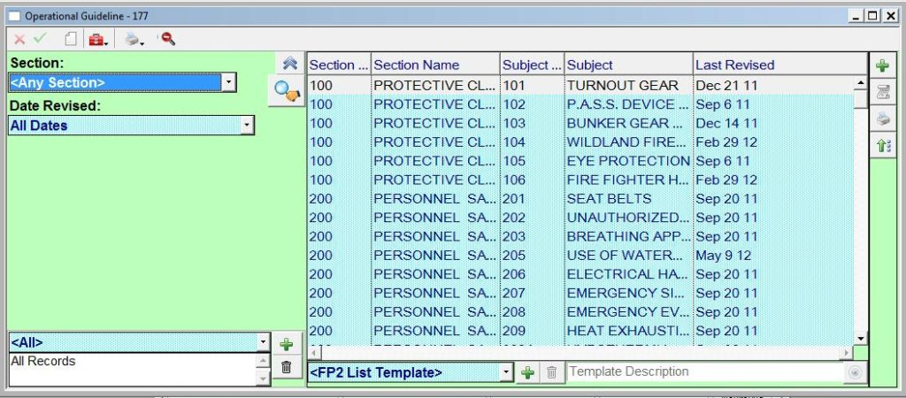 Operational Guidelines - FP2 Software